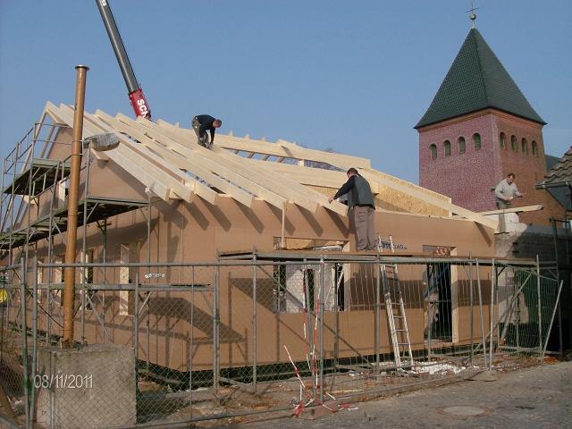 Der Umbau des Vereinsheims an der Kirche